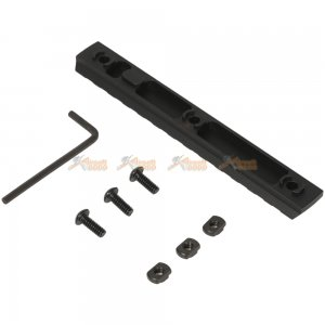 mlok 13 slot keymod rail picatinny section rail airsoft keymod handguard rail system black