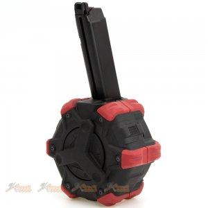 ArmoreWorks VX Glock 350rds Adaptive Drum Magazine for Marui WE AW VX G17 G18c G19 G23 G26 G34 GBB