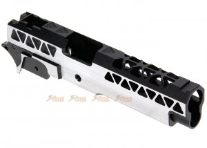 Gunsmith Bros Triangle Slide Set (Small R Cut w/ Frame & Guide Rod) for Tokyo Marui Hi-Capa GBB Series (2 Tone)
