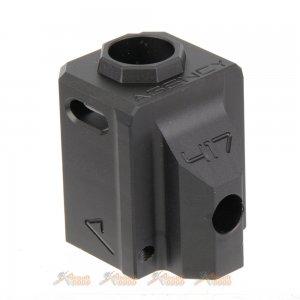 rwa agency arms 417 compensator 14mm ccw  marui  vfc wetech g17 g18c airsoft gbb series black