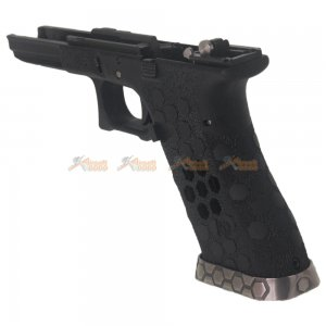 aw custom hex cut lower frame full set  marui g17 gbb black steel slide rail