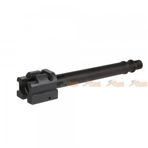 mock silencer aluminium threaded outer barrel set hk ump umg series airsoft aeg black