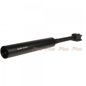 Mock Silencer & Aluminium Threaded Outer Barrel Set for H&K UMP UMG Series Airsoft AEG (Black)