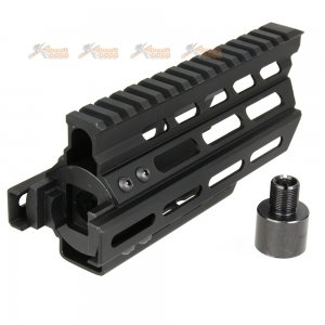 Battleaxe CNC Aluminum P90 RAS Handguard (Keymod+M-LOK) (Black)