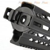 battleaxe cnc aluminum p90 ras handguard keymod mlok black