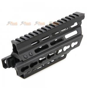 BATTLEAXE Aluminum Extended Keymod Handguard Rail for Marui P90 AEG (Black)