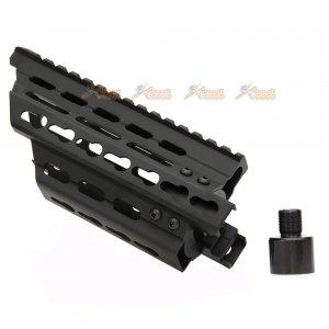 battleaxe aluminum extended keymod handguard rail marui p90 aeg black