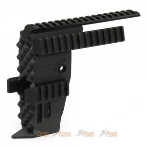 Tokyo Arms Swordfish Style Aluminum Alloy Front End Conversion Kit for P90 AEG (Black)