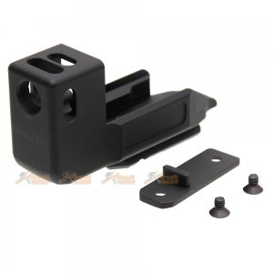 Compensator Stand Off Device for Marui / WE / KJ G17 (Gen 3) & Umarex G17 (Gen 4) Airsoft GBB (Black)