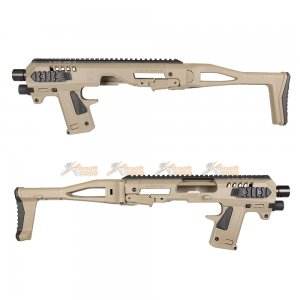 CAA AIRSOFT MICRO RONI Pistol Carbine Conversion for Umarex G17 G19 G22 / VFC G17 G18C G19 / Tokyo Marui KSC WE G17 G18C G19 G23F Gas Blowback Glock GBB (DE)