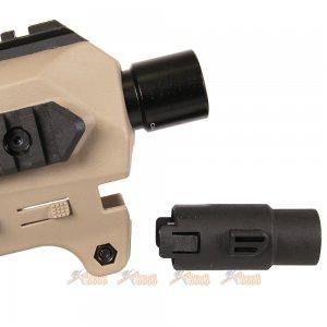 caa airsoft micro roni pistol carbine conversion glock series gbb de