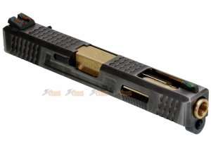 WEI-E Custom Metal Slide S Type for Marui WE G18C GBB (Golden Barrel)