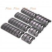 Energy Rail Cover Set (8 pcs) for Airsoft AEG 20mm Picatinny Rail / RIS / RAS (Black)