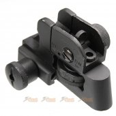 DBOYS Metal CQB-R Type QD Adjustable Rear Sight for M4 M16 Series Airsoft AEG Rifle (Black)