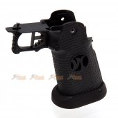 AW IPSC Grip Set for Marui / WE Hi-Capa 5.1, 4.3 Airsoft GBB Black