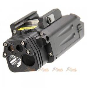 target one cnc aluminum deal pl visible ir laser flashlight black