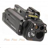 Target One CNC Aluminum DBAL-PL Visible IR Laser Flashlight (Black)