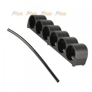 golden eagle m870 gas pump action shotgun 6 shell holder black