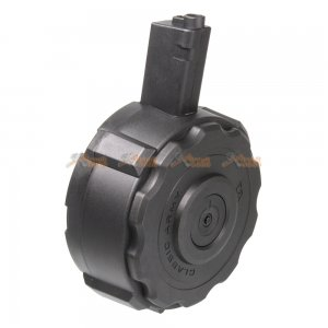 1200rds Electronic winding Drum Magazine for Classic Army X9 & G&G ARP9 Series Airsoft AEG (Black)