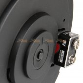 1200rds electronic winding drum magazine classic army x9 G&G arp9 series airsoft aeg black