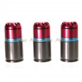 Army Force 72rds 40mm Aluminum Grenade Shell x3pcs Co2 (Red)