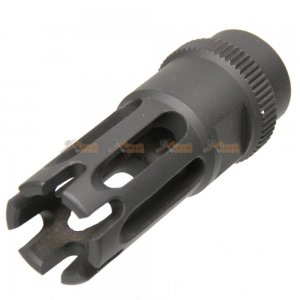 ares metal +14mm cw flash hider m16 type f black