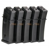 470rds Magazines for Marui and King Arms G36 Series Airsoft AEG (5pcs Pack, Black)