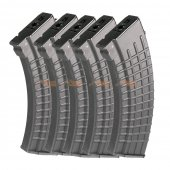600rds Hi-Capa Waffle Type Magazines for Marui and King Arms AK Series Airsoft AEG (5pcs Pack, Black)