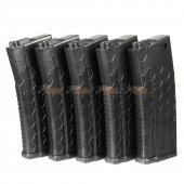Hexmag Airsoft 120rds ECO M4 AEG Magazine (5pcs Pack, Black)