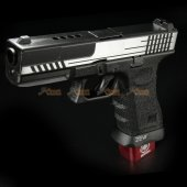 BELL 1/1 scale high performance assembled G17 Airsoft GBB - NO.757L (Silver / Black)