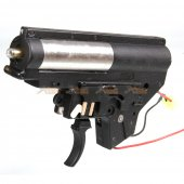 Complete Gearbox with Rear Wire for MP5 AEG (Black)