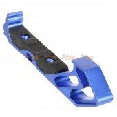 aluminum angled grip keymod handguard rail blue