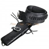 Tactical Airsoft Right Handed Synthetic Leather Belt Holster (Floral pattern)