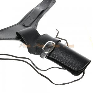 tactical airsoft right handed synthetic leather belt holster black