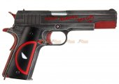 Armorer Works Custom Deadpool 1911 Gas Blowback Pistol GBB (Full Metal - Deadpool Grip)