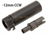 SOCOM 46 Style Mini Dummy Silencer with -12mm CCW Flash Hider for Marui MP7 GBB (Black)