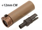 SOCOM 46 Style Mini Dummy Silencer with +12mm CW Flash Hider for VFC / KWA / KWC MP7 GBB (DE)