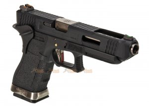 WE G34 T5 GBB Pistol (Black Slide,Black Frame,Silver Barrel)