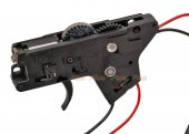 Lower Metal Gearbox for ICS M4 Series AEG - Rear Wire (Black)