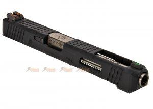 WE Slide Set for Marui WE G34 T5 GBB Pistol (Black Slide / Silver Barrel)