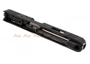 we slide set marui g34 t5 gbb pistol black slide silver barrel