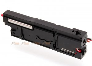 cnc aluminum complete gearbox a&k classic army  m249 series airsoft aeg black