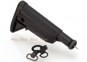 Stock with 6 Position Stock Tube for G&G ARP9 & ARP556 Airsoft AEG (Black)