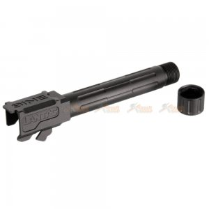 5KU Aluminum 9INE -14mm Outer Barrel with Thread Protector for Marui G19 GBB (Black)