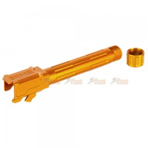 5KU Aluminum 9INE -14mm Outer Barrel with Thread Protector for Marui G19 GBB (Gold)