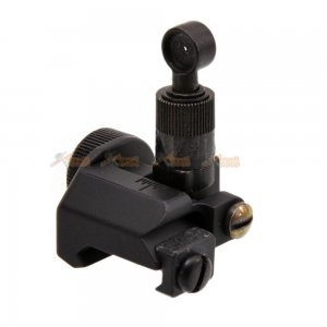 CYMA Knight's KAC Type 600M Flip Up Rear Sight for M4 / M16 & AR-Series with 20mm Rail (Black)