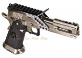 Armorer Works 6 Inch HX2202 HI-Capa 5.1 GBB Pistol with Scope Mount (Silver)