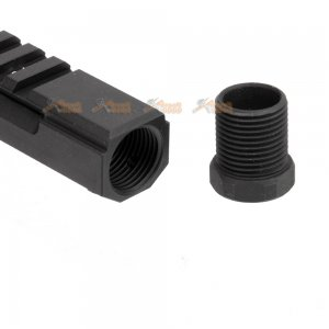 5ku aluminum railed gas tube ghk lct standard ak series gbbr black
