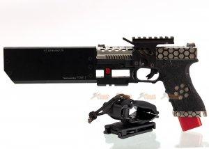 AW CUSTOM Hex Cut Signature G17 GBB Pistol with Speedy Holster