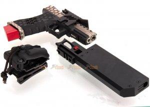 aw custom hex cut signature g17 gbb pistol speedy holster